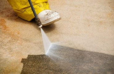 concrete, cleaning, concrete cleaning, pressure washer, richmond blacktop