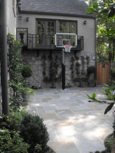 Basketball court paving